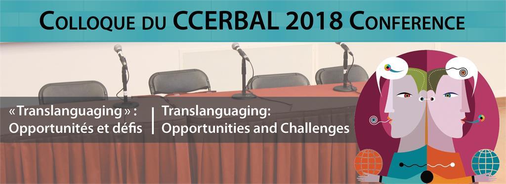 Colloque du CCERBAL 2018