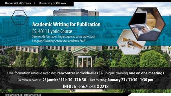 Academic Writing for Publication - ESL 4011