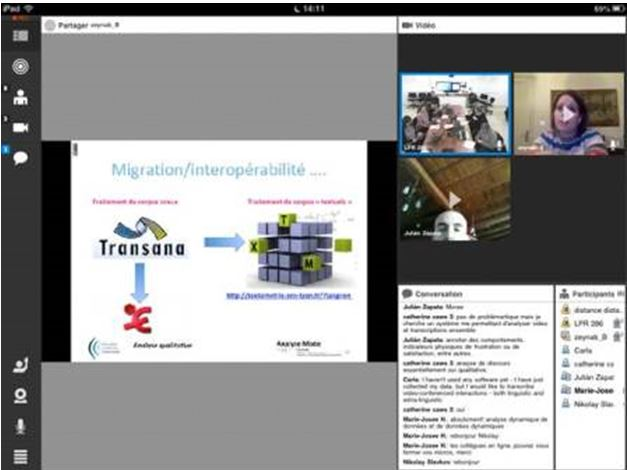 screen shot of the webinar